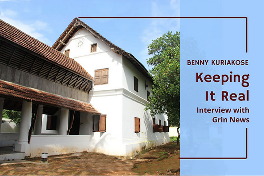 An interview of Benny Kuriakose in the Grin News on his design philosophy, his career, his projects etc.How Benny Kuriakose, heir to the legendary Indian architect Laurie Baker, keeps it real.