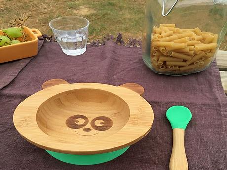 bol cuillère bébé bambou silicone biodégradable
