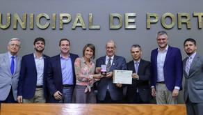 Comenda Porto do Sol é concedida à Associação dos Empresários do Bairro Humaitá e Navegantes