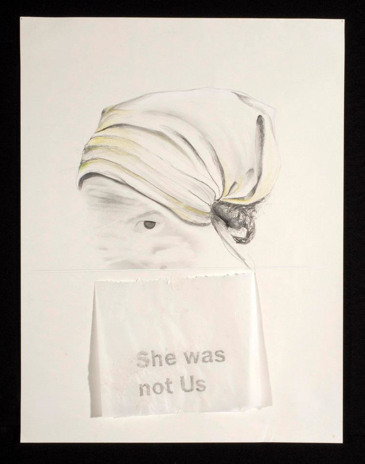 she was not Us: foil, backdrop No. 1