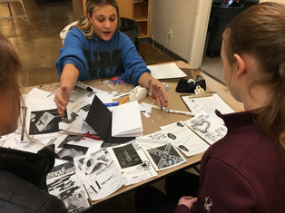 Helena High School students working on zine-based tours as part of my workshop and exhibit for Speaking Volumes: Scores for Transforming Hate