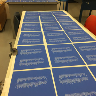 Silkscreened inserts of Site possibilities for talks