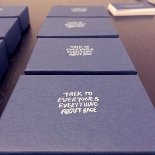 Portlable packaging for Race Talks at Art in Odd Places, NYC