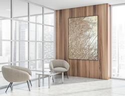Room scene Linen Flowers V