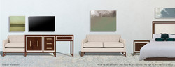 Aria Case Goods collection in Sienna