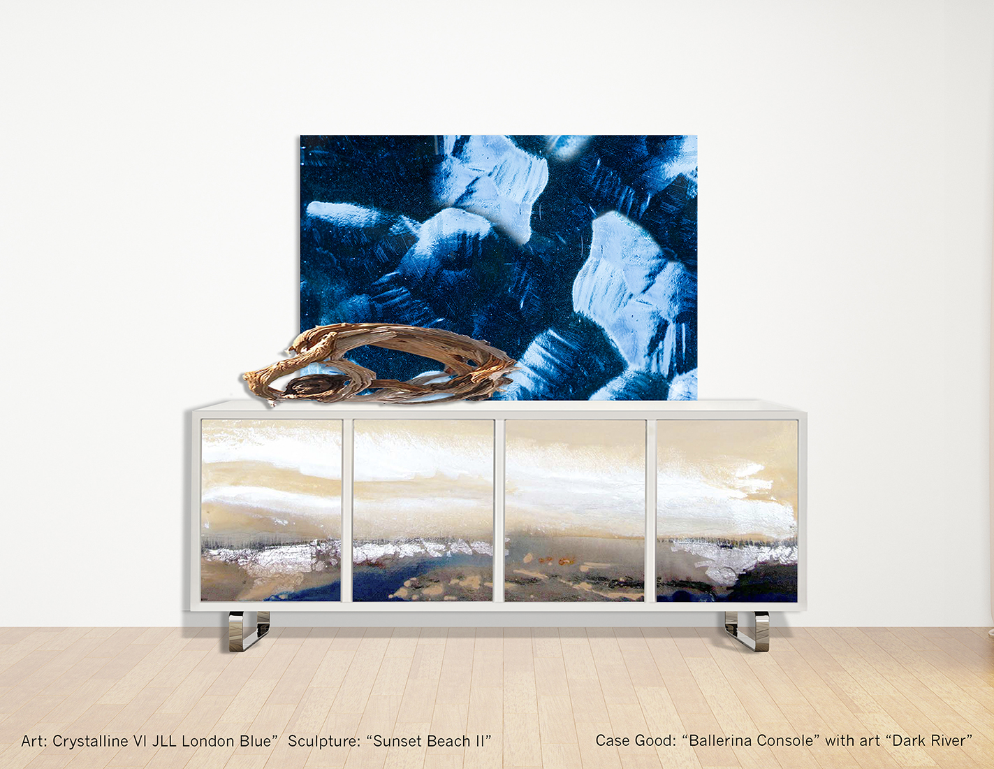 Ballerina Console with Dark River art