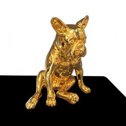 Bulldog in Gold Chrome