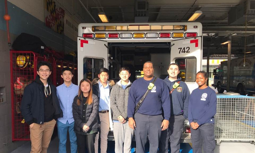 Donation drop off to the Wheaton Volunteer Rescue Squad