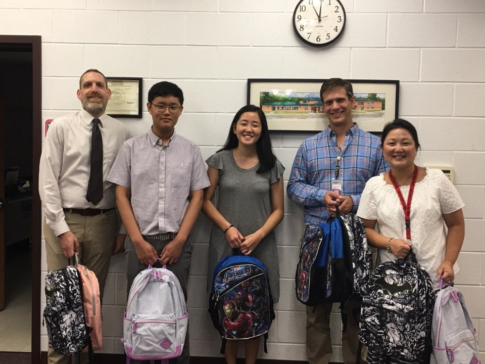 Backpack Donation to Mason Crest Elementary School