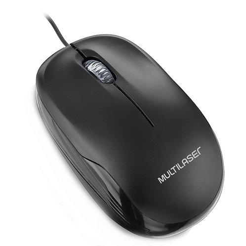 Mouse Multilaser 1200DPI USB Preto