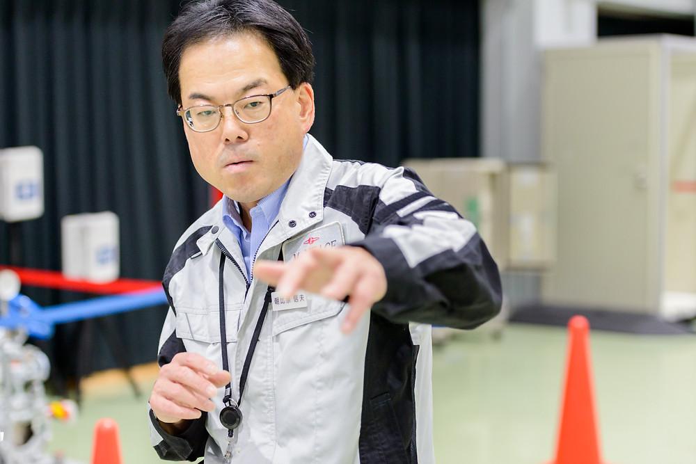 写真)日本原子力発電株式会社 敦賀事業本部 美浜原子力緊急事態支援センター  課長 朝比奈信夫氏