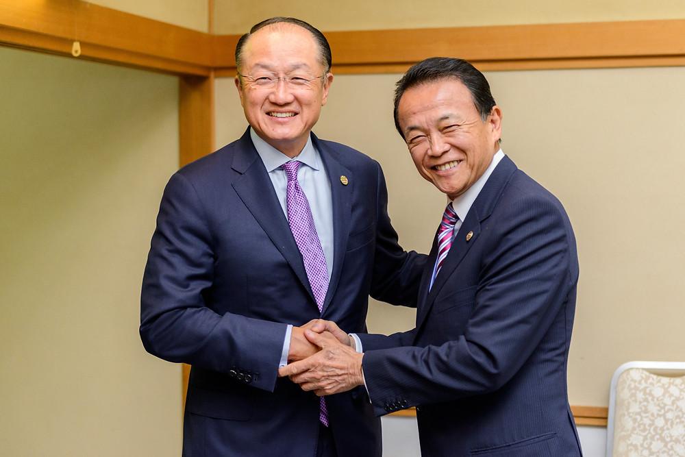 World Bank Group President Jim Yong Kim with Japan Finance Minister Taro Aso  World Bank Group President Jim Yong Kim with Japan Finance Minister Taro Aso. Photo: Antony Tran / World Bank