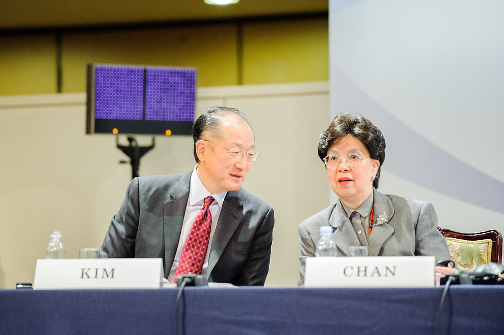 "World Bank Group President Jim Yong Kim at the International Conference on Universal Health Coverage  December 16, 2015 - Tokyo, Japan. At the International Conference on ""Universal Health Coverage in the New Development Era: Toward Building Resilient and Sustainable Health Systems"". Jim Yong Kim, World Bank Group President and Margaret Chan, Director-General, World Health Organization (WHO) Photo: Antony Tran / World Bank"