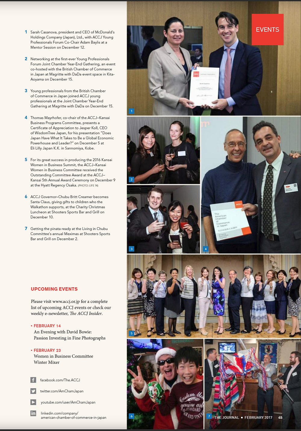 ACCJ the Journal February 2017 - Page 45  ACCJ Kansai Women in Business Summit 2016 -   Driving Business through Organizational Culture Change - (Kansai Event)   Date: Wednesday, June 29, 2016 Time: 1:00pm - 8:00pm Venue: Ritz-Carlton Osaka   Hosting Committee(s): Kansai - Women in Business  Event Overview: ACCJ Kansai is pleased to invite you to the Kansai Women in Business (WIB) Summit - Driving Diversity through Organizational Culture Change. Join us at the Ritz-Carlton Osaka on June 29th for a half day of inspiring speakers, panel discussions and workshops on the crucial topic of the business case for changing organizational culture to support diversity and inclusion. This event is in response to our successful inaugural summit last year, as well as the Nagoya and Tokyo summits (attended by Prime Minister Shinzo Abe and U.S. Ambassador to Japan Caroline Kennedy), and follows the call of Prime Minister Abe who has made gender diversity a top issue.    The event will highlight thoughts from leaders across diverse sectors, and anyone from senior executives to interested community members is welcome to attend. Men are especially encouraged to participate, as the task of creating an inclusive organizational culture belongs to us all. Be a part of this engaging forum to discuss solutions required to strengthen gender equality, diversity & inclusion, and positively impact the Kansai region. As space is limited, please register ASAP. Mark your calendars and join in the momentum of change!    http://www.accj.or.jp/accj-events/accj-kansai-women-in-business-summit-2016-driving-business-through-organizational-culture-change-kansai-event.html?lang=en    The ACCJ - 在日米国商工会議所  http://www.accj.or.jp