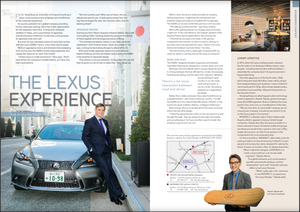 "FEBRUARY 2016 SPONSORED CONTENT  The Lexus Experience Test-driving the IS200t  For Dr. Greg Story, an attraction of living and working in Japan is the country's love of design and mindfulness of the customer experience.  As country president of a global company providing human resources training, Story has a keen appreciation for the Japanese work ethic. A long-term, bilingual resident in Tokyo, and a practitioner of Japanese martial arts since childhood, he also has a strong sense of Japanese style and craft.  But even he was impressed when he came face to face with the Lexus IS200t F Sport, a four-door sports sedan.  With an aggressive stance and dramatic lines sweeping from end to end, the IS200t (Turbo) raises eyebrows and causes the observer to catch their breath.  ""I know Lexus is a high-end brand,"" Story says. ""And I have driven the company's models before, so I have very high expectations.  ""But this is pretty cool. When you sit down, the car adjusts the seat for you. It feels sporty simply from the way they arranged the seat, the narrower cabin, and the steering wheel.""   https://journal.accj.or.jp/the-lexus-experience-2/      The ACCJ - 在日米国商工会議所  http://www.accj.or.jp   ​​    ​​    ​​    ​​    ​​   Atsushi Takada with the Lexus hoverboard ​​"