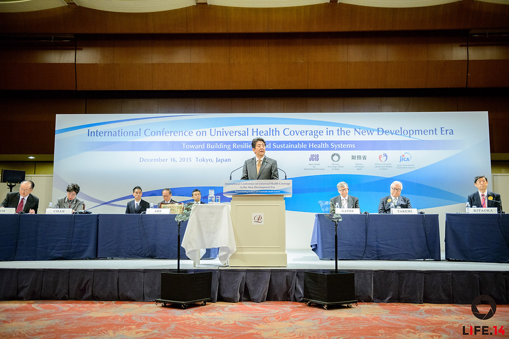 Universal Health Coverage in the New Development Era: Toward Building Resilient and Sustainable Health Systems Tokyo | December 16, 2015 	SHINZO ABE, Prime Minister of Japan