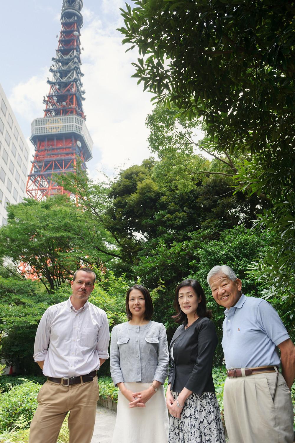 From left: Jason Chare, Shihoka Fujiwara, Emiko Tokunaga, and Paul Fukuda