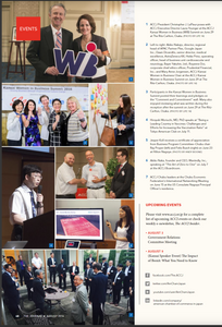 "ACCJ the Journal August 2016 - Page 48 https://journal.accj.or.jp/2016-accj-women-in-business-summit/    The ACCJ - 在日米国商工会議所  http://www.accj.or.jp   ​​  Akiko Nakajo, director, regional head of APAC Partner Plex, Google Japan inc. Dawn Dicandilo, senior director, medical excellence, AstraZeneca KK Heike Prinz, operating officier, head of business unit cardiovascular and neurology, Bayer Yakuhin Ltd. Royanne Doi, corporate chief ethics officer, Prudential Financial inc. Mary Anne Jorgensen, ACCJ Kansai Women in Business Chair  at the ACCJ Kansai Women in business Summit on June 29 at the Ritz-Carlton, Osaka  ​​   Participants in the Kansai Women in Business Summit posted their learnings and pledges on the ""Comment and Commitment"" wall. Many also enjoyed reviewing what was written during the reception after the summit on June 29 at the Ritaz-Carlton, Osaka. ​​"