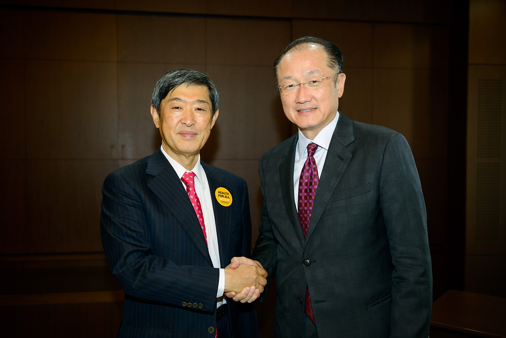 World Bank Group President Jim Yong Kim meets with President of Japan International Cooperation Agency (JICA) Shinichi Kitaoka  December 16, 2015 - Tokyo, Japan. World Bank Group President Jim Yong Kim meets with President of Japan International Cooperation Agency (JICA) Shinichi Kitaoka. Photo: Antony Tran / World Bank