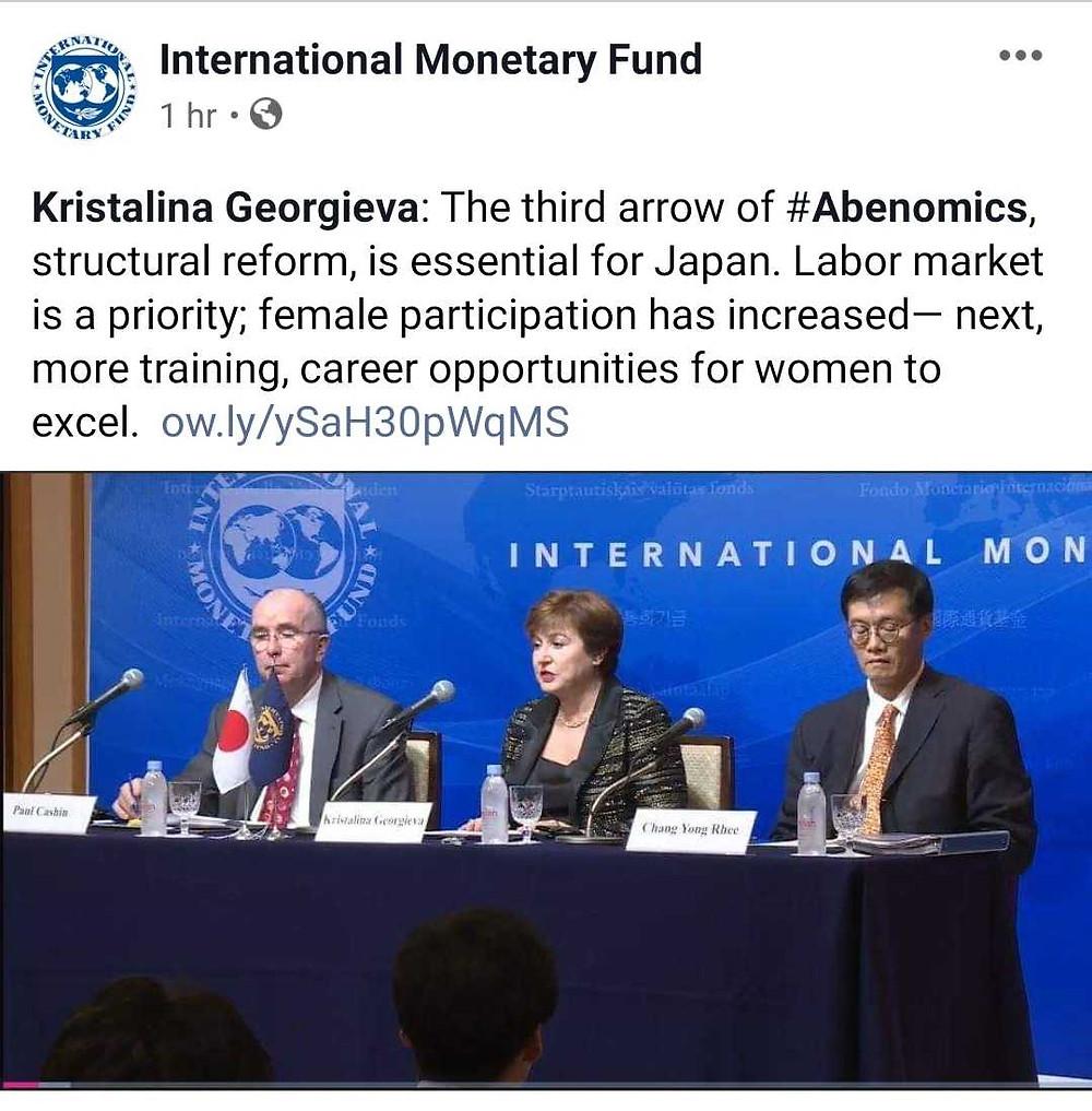 2019年11月24日、25日の2日間にわたってIMF(国際通貨基金)の専務理事クリスタリナ・ゲオルギエヴァ氏の密着撮影を担当させていただきました。