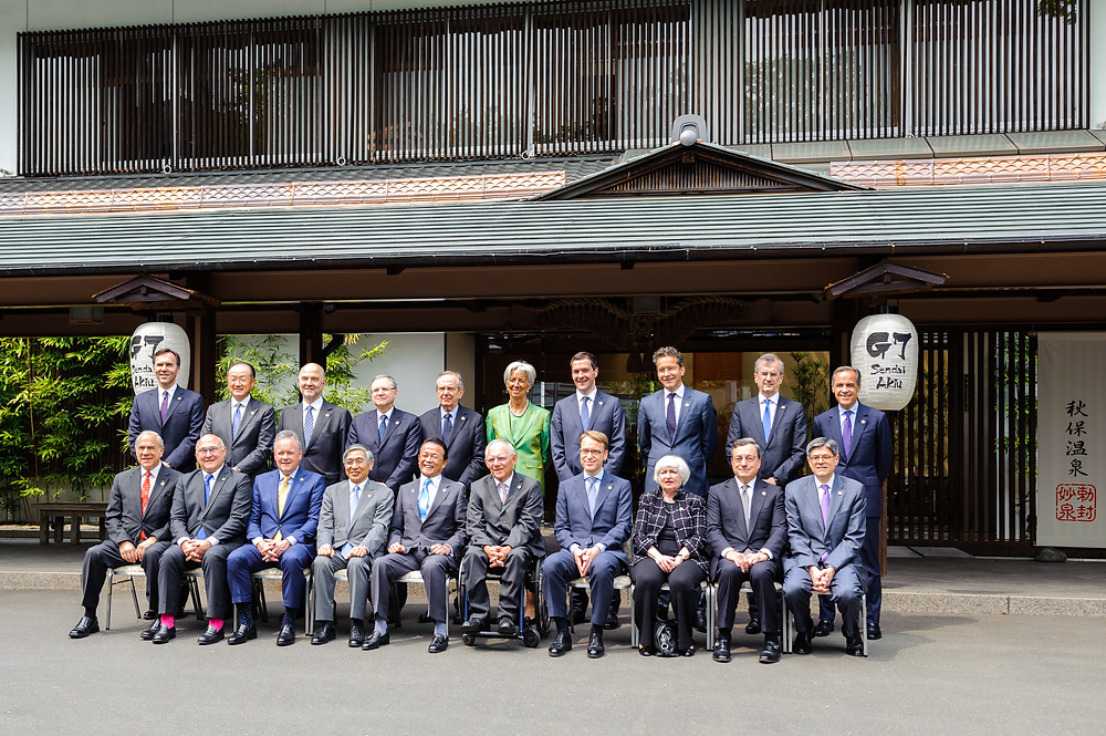 G7 JAPAN 2016, Finance Ministers and Central Bank Governors Meeting Photo Session: Heads of Delegation  May 20, 2016 - Sendai, Japan. G7 JAPAN 2016, Finance Ministers and Central Bank Governors Meeting's Head of Delegation Photo: Antony Tran / World Bank