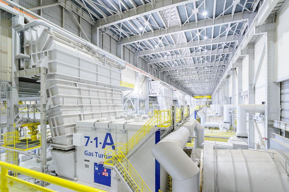写真)西名古屋火力発電所発電設備