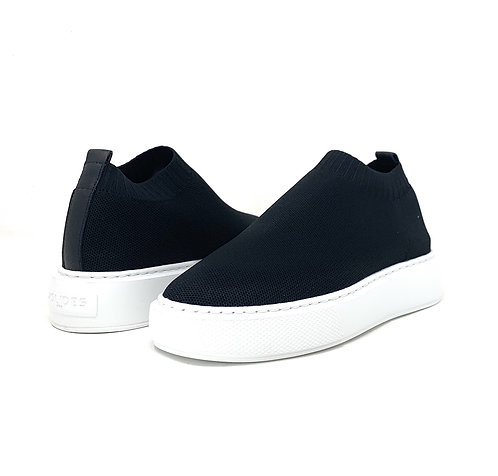J SLIDES | DAPH | BLACK KNIT