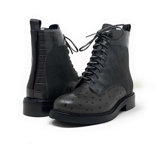 JEFFREY CAMPBELL   FISH   GREY COW HAIR/LEATHER