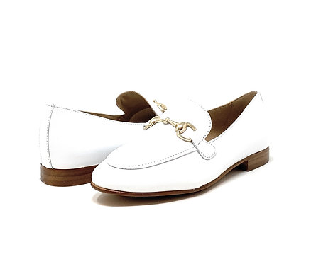 BUCKLES   MOC   WHITE LEATHER
