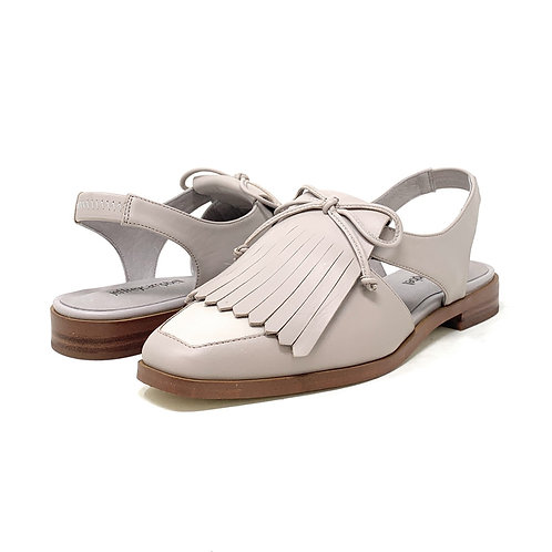 JEFFREY CAMPBELL | OXEY | LIGHT GREY LEATHER
