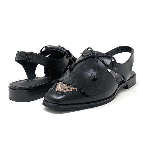 JEFFREY CAMPBELL | OXEY | BLACK LEATHER