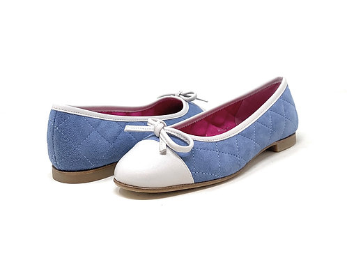 LE BABE | QUILTY | LIGHT BLUE SUEDE/WHITE TIP