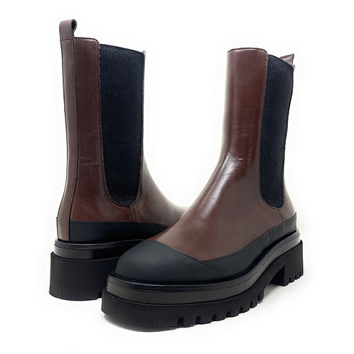 HOMERS   GOMATO   CHOCOLATE BROWN LEATHER