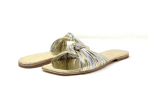 JEFFREY CAMPBELL | NAUGHTY | SILVER/GOLD LEATHER