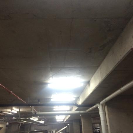 Concrete Crack In Underground Car Park
