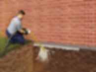 illistration of buildfix technician repairing foundation