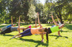 HIIT Pilates class in a Park