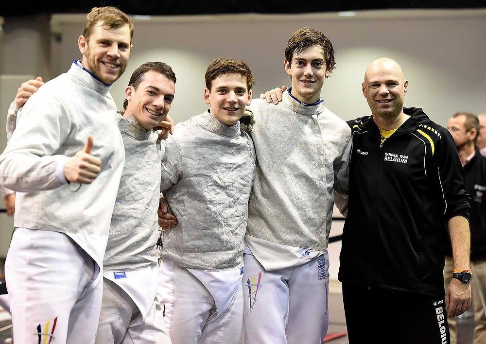 """Pieter met zijn team """"Team Belgium"""" in Budapest"""