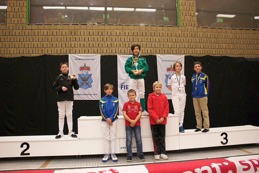 Nand, behaalde goud op Flemish Open