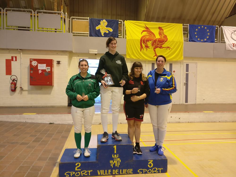 Afgelopen weekend behaalde Margot een schitterende 2de plaats op het tornooi in Luik.