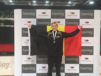 Arne, zilver behaald op de Europees Circuit Cadetten te Londen, dikke proficiat en geniet van je ove