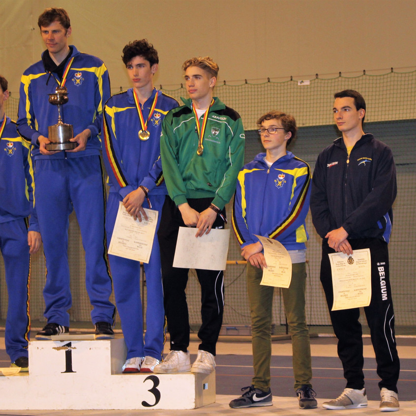 podium mannen