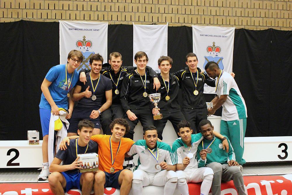 """Pieter behaalde met zijn team """" Belgian Senior"""" goud op Flemish Open"""
