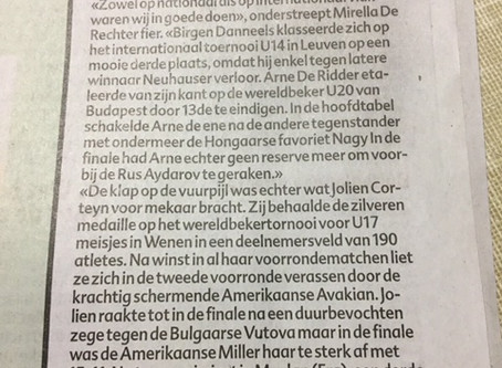 Klauwaerts in de krant ( zaterdag 20 januari 2018)