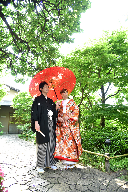 目白庭園で結婚写真