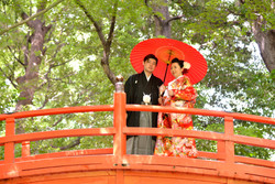 小石川後楽園でロケーションフォト・結婚写真 アニバーサリースタイル