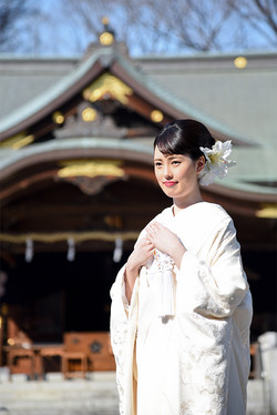 布多天神社で婚礼