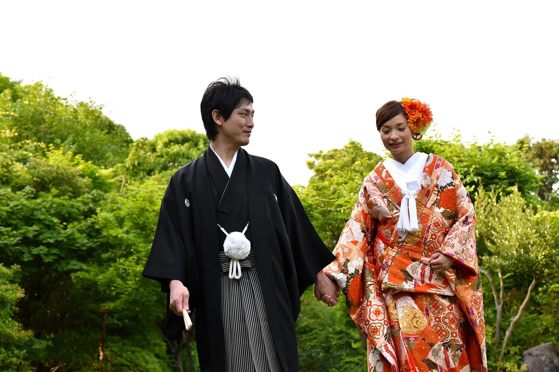 目白庭園でロケーションフォト・結婚写真 アニバーサリースタイル
