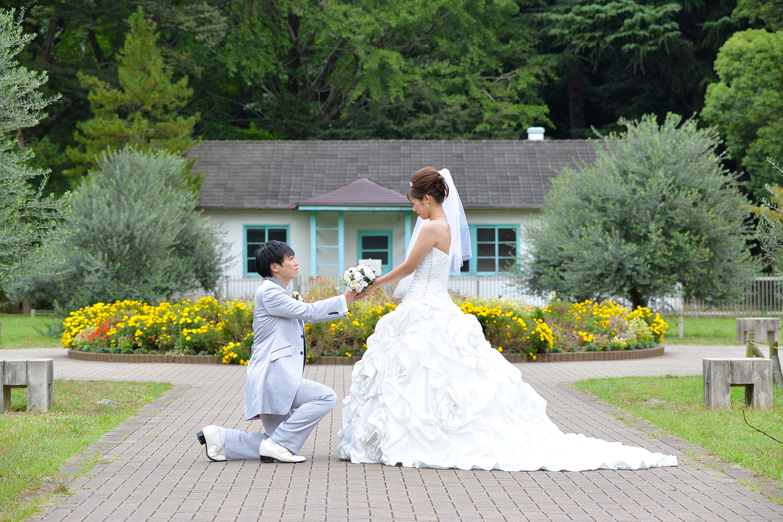 代々木公園で結婚写真