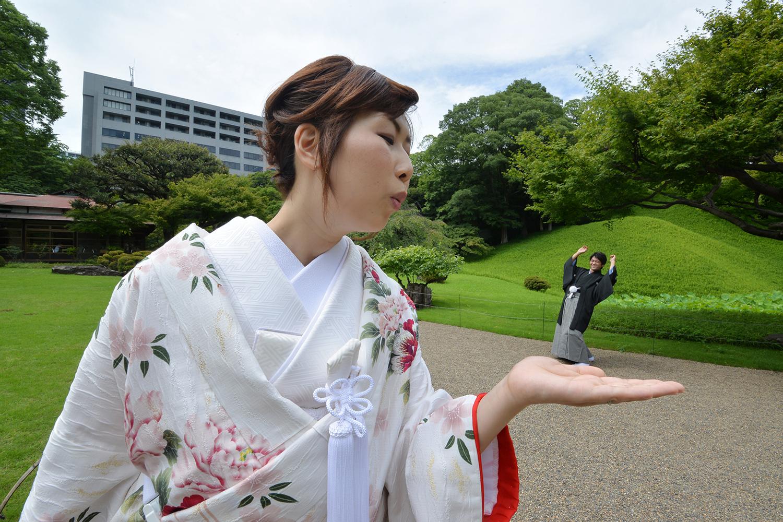 小石川後楽園で結婚撮影